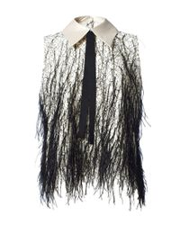 Romance Was Born - Black Magick Feather Top - Lyst