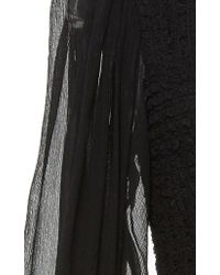 Ulla Johnson Black Arielle Ruched Dress