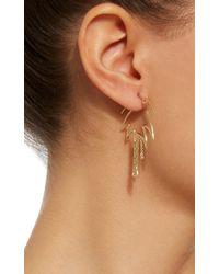 Yvonne Léon - Metallic Palm Tree 18k Gold Diamond Single Earring - Lyst