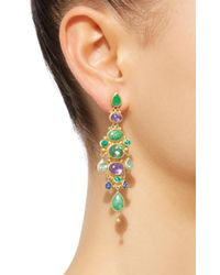 Mallary Marks - Green Chandelier Imperial Jade Earrings - Lyst