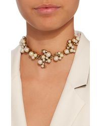 Erickson Beamon - White Dancing Queen 24k Gold-plated Crystal And Pearl Necklace - Lyst
