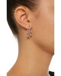 Misahara - Metallic Weeping Willows 18k Rose Gold, Rainbow Moonstone And Diamond Earrings - Lyst