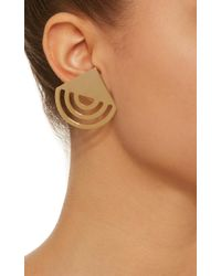 Bia Daidone - Metallic Gatsby 24k Gold-plated Earrings - Lyst