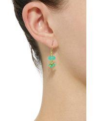 Mallary Marks - Green Sprinkle 18k Gold Beaded Earrings - Lyst