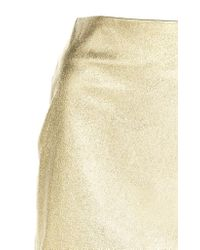 Paule Ka - Metallic Fitted Leather Mini Skirt - Lyst