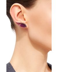 Noor Fares | Purple Amethyst Wing Earrings | Lyst