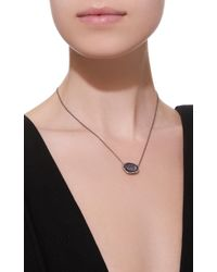 Kimberly Mcdonald - Black 18k White Gold, Diamond And Dark Geode Necklace - Lyst
