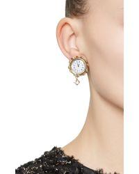 Dolce & Gabbana | Metallic Clock Strikes Midnight Chandelier Earrings | Lyst