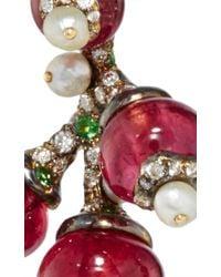 Arunashi - Multicolor 18k Blackened Gold Rubelite Fruit Earrings - Lyst