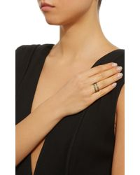 Joanna Laura Constantine - Green Gold-plated Crisscross Ring - Lyst