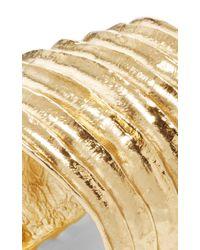 Oscar de la Renta - Metallic Ribbed Cuff - Lyst