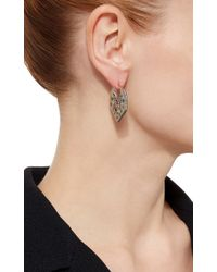 Noor Fares - Multicolor Chandbali Earrings In Grey Gold With Various Coloured Stones & Diamonds - Lyst