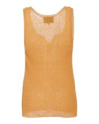 Nanushka - Orange Cephas Cotton Blend Sleeveless Top - Lyst