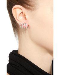 Hueb - Metallic Wave Earring With Diamonds - Lyst