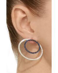 Ralph Masri - Blue Double Oval Earrings - Lyst