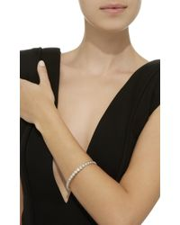 Sara Weinstock - Round Bezel White Gold And Diamond Bangle - Lyst