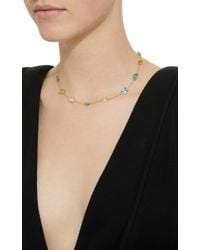 Renee Lewis - Metallic 18k Gold, Aqua-blue Topaz, Peridot, And Zircon Chain Necklace - Lyst