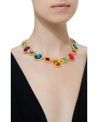 Ben-Amun - Metallic Gold-plated Crystal Necklace - Lyst