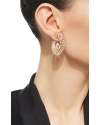 Hueb - Metallic Labyrinth Morganite Earrings - Lyst