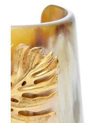Oscar de la Renta - Metallic Monstera Leaf Horn Cuff - Lyst