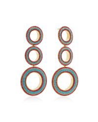 Joanna Laura Constantine - Metallic Gold-plated Grommet Earrings - Lyst