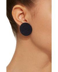 Roxanne Assoulin - Black Full Moon Navy Earrings - Lyst