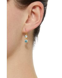 Renee Lewis - 18k Gold Blue Zircon Earrings - Lyst
