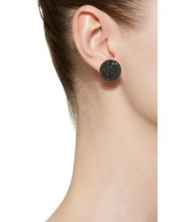 Nickho Rey - Button 14k Gold And Black Spinel Earrings - Lyst