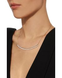 Sydney Evan - Metallic Pave Pearl Drop Long Bar Necklace - Lyst