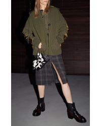 N°21 - Multicolor Norina Flannel Pencil Skirt - Lyst