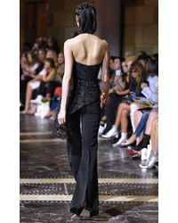 0014d971f6 Lyst - Christian Siriano Floral Lace Strapless Top in Black