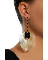 Marni - Metallic Horn Petal, Metal And Strass Earrings - Lyst