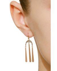 Sylva & Cie - Metallic 14k Rose Gold Diamond Earrings - Lyst
