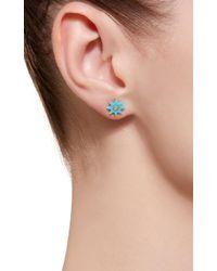 Colette - Blue Turquoise Starburst Stud Earrings - Lyst