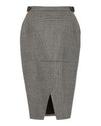 Altuzarra - Black Bolan High-rise Wool-blend Skirt - Lyst