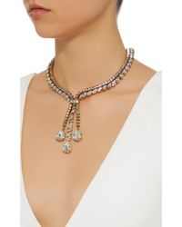 Erickson Beamon | Metallic Parlor Trick 24k Gold-plated Crystal Necklace | Lyst