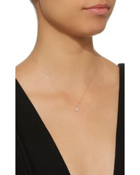 Kismet by Milka - Pink Eclectic White Diamond Small Star Rose Gold Necklace - Lyst