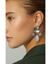 Fred Leighton - White One-of-a-kind Moonstone Girandole Earrings - Lyst