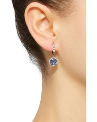 Colette - Blue Planet 18k White Gold, Diamond And Sapphire Earrings - Lyst