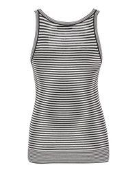 Courreges - Multicolor Striped Cotton-blend Top - Lyst