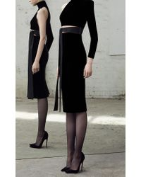 Alex Perry - Black Astrid Velvet One Sleeve Cocktail Dress - Lyst