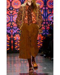 Anna Sui - Brown Studded Wide Leg Corduroy Levi's Pants - Lyst
