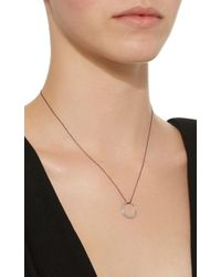 Monica Rich Kosann - Poesy Love 18k White Gold Diamond Necklace - Lyst