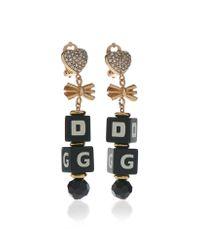 Dolce & Gabbana - Black Dice Earrings - Lyst