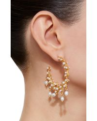 Christie Nicolaides - White Bianca Pearl Hoops - Lyst