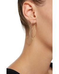 Zoe Chicco - Metallic Mixed Diamond Double Circle Hoop Earrings - Lyst
