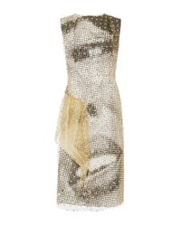 Maison Margiela - Multicolor Flocked Tulle Sheath Dress - Lyst