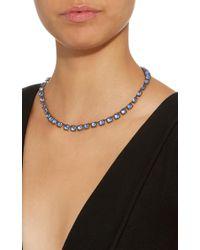 Larkspur & Hawk   Blue Bella Small Riviere Gold And Quartz Earrings   Lyst