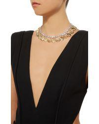Fallon - White Gold-tone Crystal Monarch Mykonos Collar Necklace - Lyst