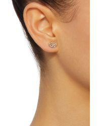 Colette - Pink Baby Les Chevalieres 18k Rose Gold Diamond Earrings - Lyst